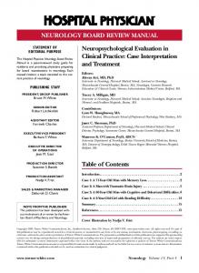 Neuropsychological Evaluation in Clinical Practice: Case Interpretation and Treatment