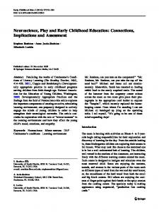 Neuroscience, Play and Early Childhood Education: Connections, Implications and Assessment