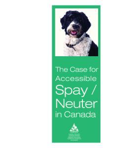 Neuter. in Canada