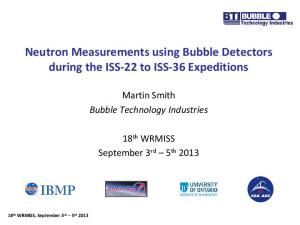 Neutron Measurements using Bubble Detectors during the ISS-22 to ISS-36 Expeditions