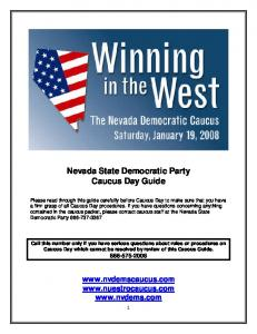 Nevada State Democratic Party Caucus Day Guide