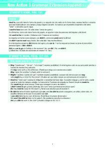 New Action 3 Grammar Extension Appendix