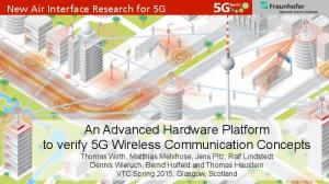 New Air Interface Research for 5G