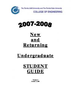 New and Returning. Undergraduate STUDENT GUIDE