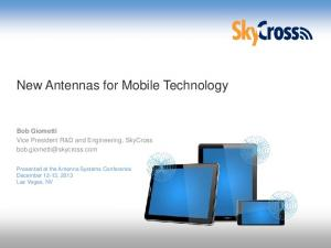 New Antennas for Mobile Technology