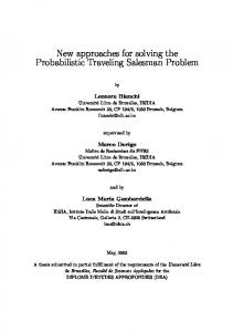 New approaches for solving the Probabilistic Traveling Salesman Problem
