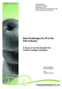 New Challenges for IP in the Film Industry