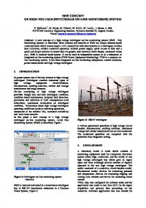 NEW CONCEPT OF HIGH-VOLTAGE SWITCHGEAR ON-LINE MONITORING SYSTEM