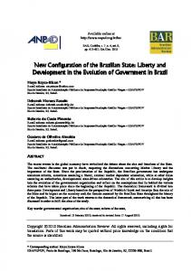 New Configuration of the Brazilian State: Liberty and Development in the Evolution of Government in Brazil