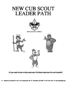 NEW CUB SCOUT LEADER PATH