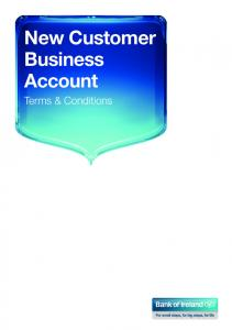 New Customer Business Account. Terms & Conditions