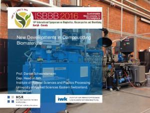 New Developments in Compounding Biomaterials