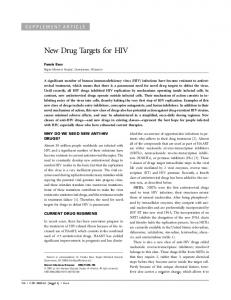 New Drug Targets for HIV