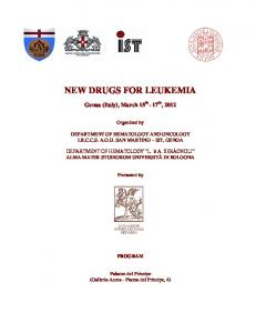 NEW DRUGS FOR LEUKEMIA