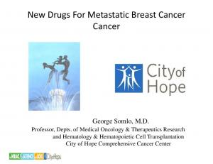 New Drugs For Metastatic Breast Cancer Cancer