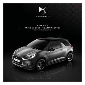 NEW DS 3 PRICE & SPECIFICATION GUIDE