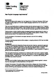 New English language requirements 1