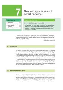 New entrepreneurs and social networks