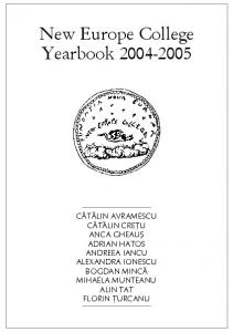 New Europe College Yearbook