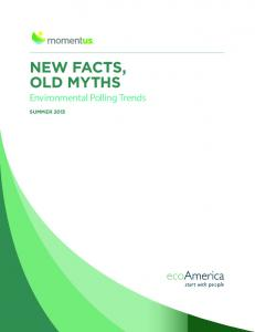 NEW FACTS, OLD MYTHS Environmental Polling Trends