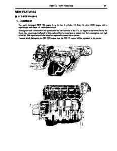 NEW FEATURES 2TZ FZE ENGINE. 1. Description PREVIA NEW FEATURES