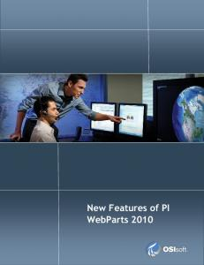 New Features of PI WebParts Page 1