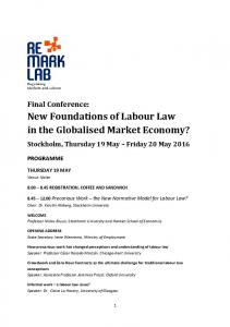 New Foundations of Labour Law in the Globalised Market Economy?