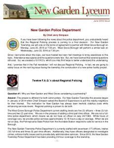 New Garden Police Department