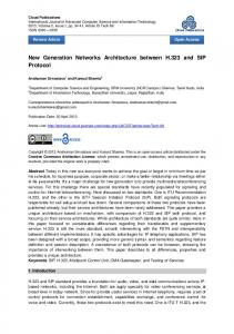 New Generation Networks Architecture between H.323 and SIP Protocol