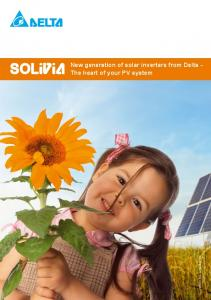 New generation of solar inverters from Delta - The heart of your PV system