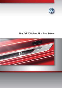 New Golf GTI Edition 35 Image Portfolio