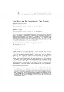 New Goods and the Transition to a New Economy