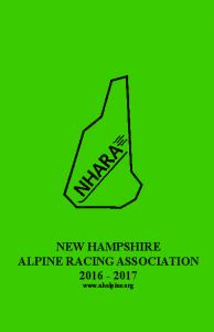 NEW HAMPSHIRE ALPINE RACING ASSOCIATION