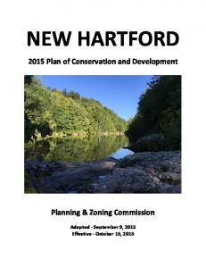 NEW HARTFORD Plan of Conservation and Development. Planning & Zoning Commission