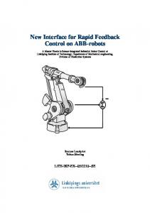 New Interface for Rapid Feedback Control on ABB-robots