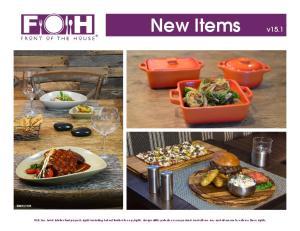New Items v FOH