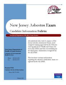 New Jersey Asbestos Exam