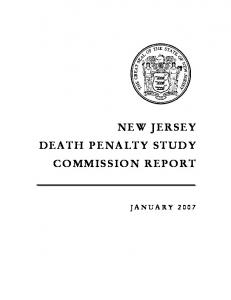 NEW JERSEY DEATH PENALTY STUDY COMMISSION REPORT