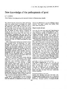 New knowledge of the pathogenesis of gout