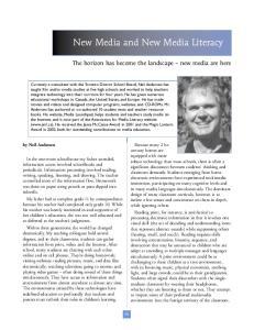 New Media and New Media Literacy
