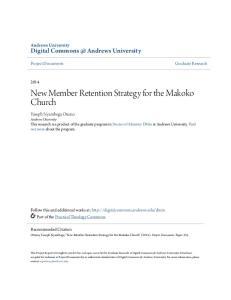 New Member Retention Strategy for the Makoko Church
