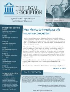 New Mexico to investigate title insurance competition