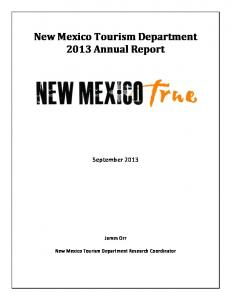 New Mexico Tourism Department 2013 Annual Report