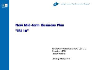 New Mid-term Business Plan IBI 18