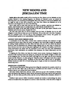 NEW MOONS AND JERUSALEM TIME
