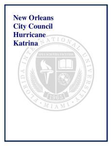 New Orleans City Council Hurricane Katrina