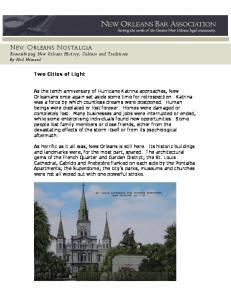 NEW ORLEANS NOSTALGIA