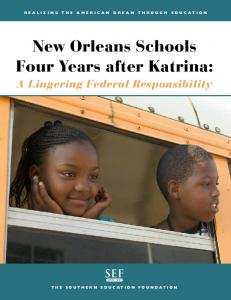 New Orleans Schools Four Years after Katrina: