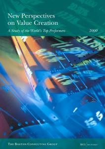 New Perspectives on Value Creation