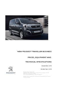 NEW PEUGEOT TRAVELLER BUSINESS